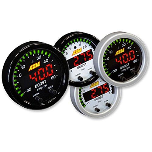 Series Boost Pressure Gauge - AEM 30-0308 X-SERIES HIGH 52MM LED BOOST PRESSURE GAUGE -30~60PSI / 4BAR BLACK