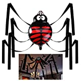 Unomor Halloween Decorations Hanging Spider with Balloon for Halloween Party or Haunted House Decorations - 20 Feet