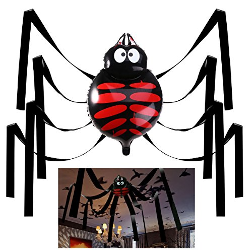 Halloween Decorations Giant Spider (Halloween House Decorations, 20 Feet Giant Spider Ceiling Hanging Decorations for Party or Haunted House)