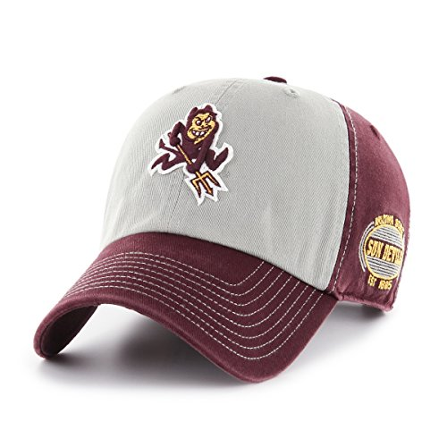 Arizona State Sun Devils Visor - OTS NCAA Arizona State Sun Devils Adult Unisex NCAA Tuscon Challenger Clean Up Adjustable Hat, One Size, Dark Maroon