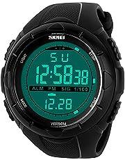 SKMEI 1025 Black Waterproof Mens Digital Watch