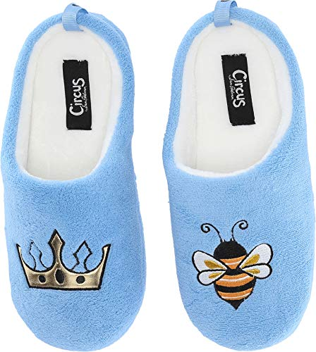 Circus by Sam Edelman Women's Jilly-6 Light Blue (Queen Bee) Fuzzy Fabric LG (US Women's Size 9-10) M for $<!--$13.99-->
