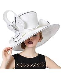 Women Hat Lady Kentucky Derby Dress Church Wedding Party Hat White