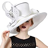 June's Young Women Hat Lady Kentucky Derby Dress Church Wedding Party Hat White