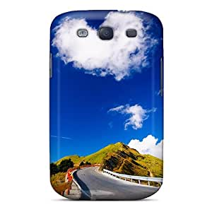 Shock-dirt Proof Blue Sky Case Cover For Galaxy S3