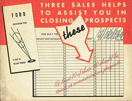 1935 Ford V8 Trucks ORIGINAL Vintage Dealer Sales Brochure