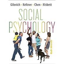 Social Psychology (Third Edition) by Thomas Gilovich (2012-09-15)