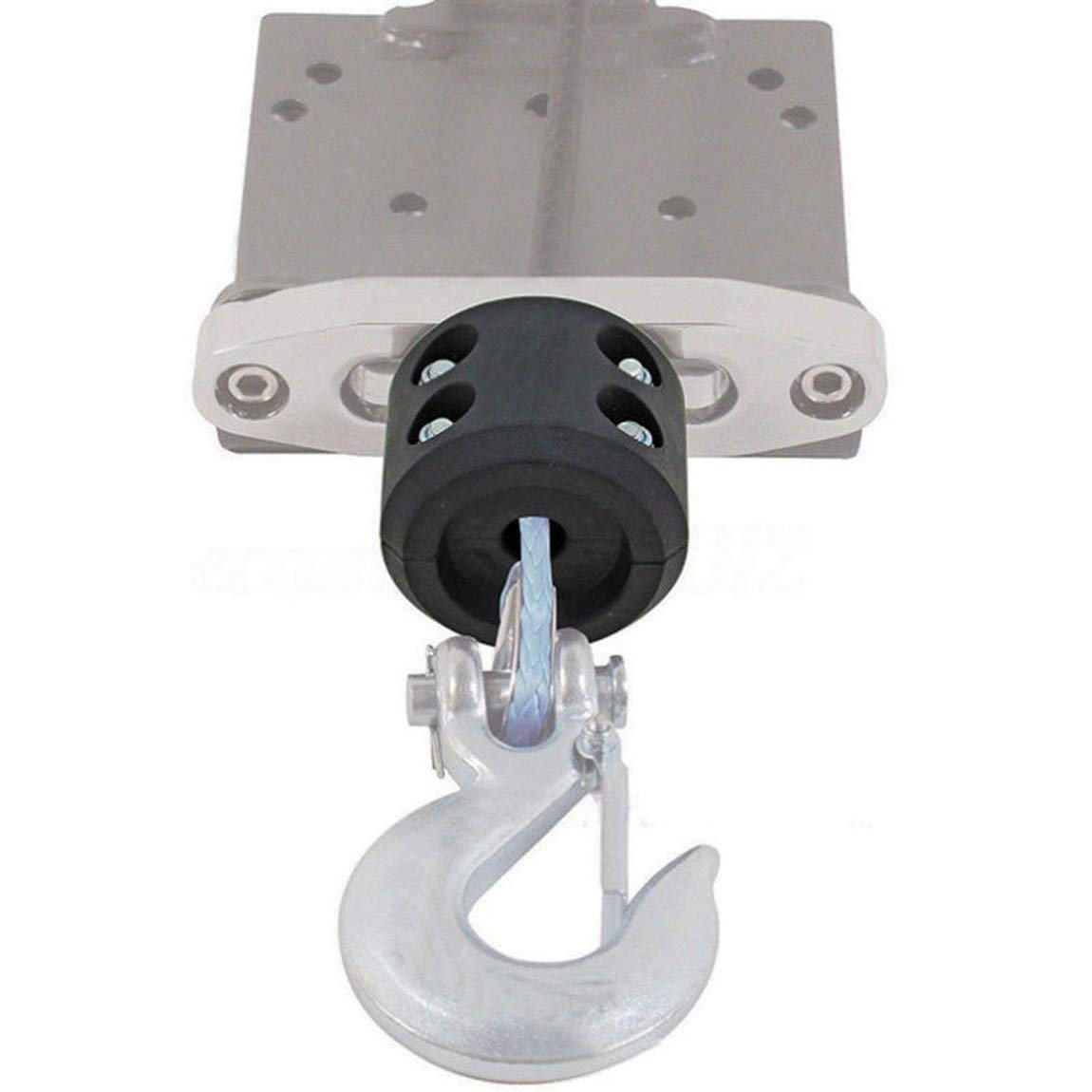 COLOR: Azul ATV UTV Winch Cable Hook Mount Stop Stopper Coj/ín de goma Negro Winch Cable Hook Stopper TAMA/ÑO: 135mmx95mm