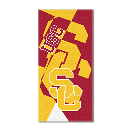 The Northwest Company Officially Licensed NCAA USC Trojans Puzzle Beach Towel, 34