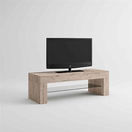 Mobilifiver Evo Mobile Porta TV, Legno, Quercia, 112x40x36 cm ...