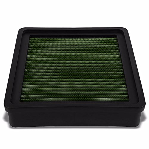 (Reusable Green High Flow Drop-In Panel Air Filter Replacement For Mitsubishi 93-96 Mirage/Eagle Summit/Dodge 93-94 Colt/Plymouth 93-97)