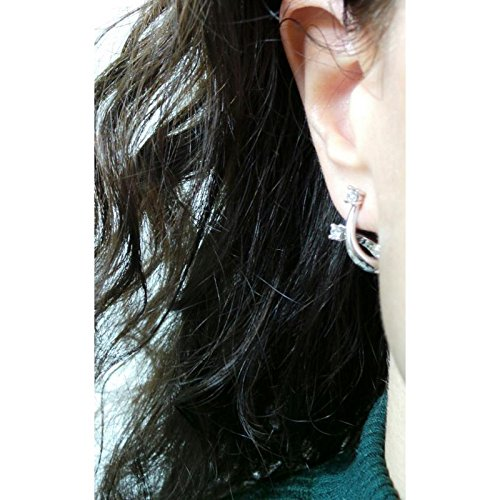 Boucles d'oreilles recarlo e02co341 Eternity or blanc diamant