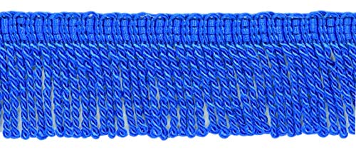 DÉCOPRO 2 Inch Long Persian Blue Thin Bullion Fringe Trim, Style# BFT2 Color: Cobalt Blue - I6, Sold by The Yard