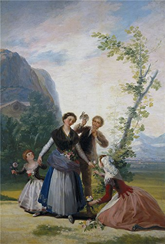 - The Perfect Effect Canvas Of Oil Painting 'Goya Y Lucientes Francisco De The Flower Girls Or Spring 1786 87 ' ,size: 18 X 27 Inch / 46 X 67 Cm ,this Replica Art DecorativePrints On Canvas Is Fit For Wall Art Decor And Home Decoration And Gifts