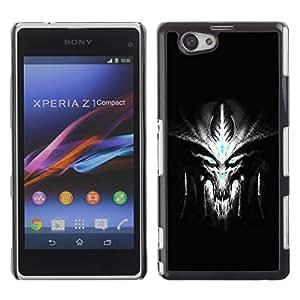 Be-Star Único Patrón Plástico Duro Fundas Cover Cubre Hard Case Cover Para Sony Xperia Z1 Compact D5503 ( Evil Alien )