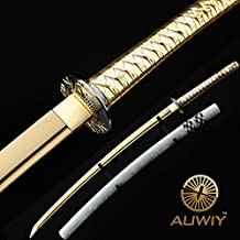"Auway® 40"" Fully Handmade High Carbon Steel Full Tang Blade Japanese Katana Samurai Sword"