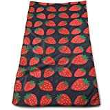 Strawberry Cartoon Pattern Microfiber Clean Towels Face Towels...