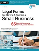 Legal Forms for Starting & Running a Small Business, 10th Edition Front Cover