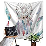Dreamcatcher with Colorful Feather Decor Tapestry Wall Hanging Hippie Tapestry Psychedelic Bohemian Feather Tapestry for Home Dorm Living Room Or Guest Room Decoration HYC02-B-US #8 W: 59'' x H: 51''