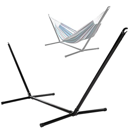 [US Stock]Portable Stainless Steel Hammock Stand/Space Savings Outdoor  Patio Hammock Stand
