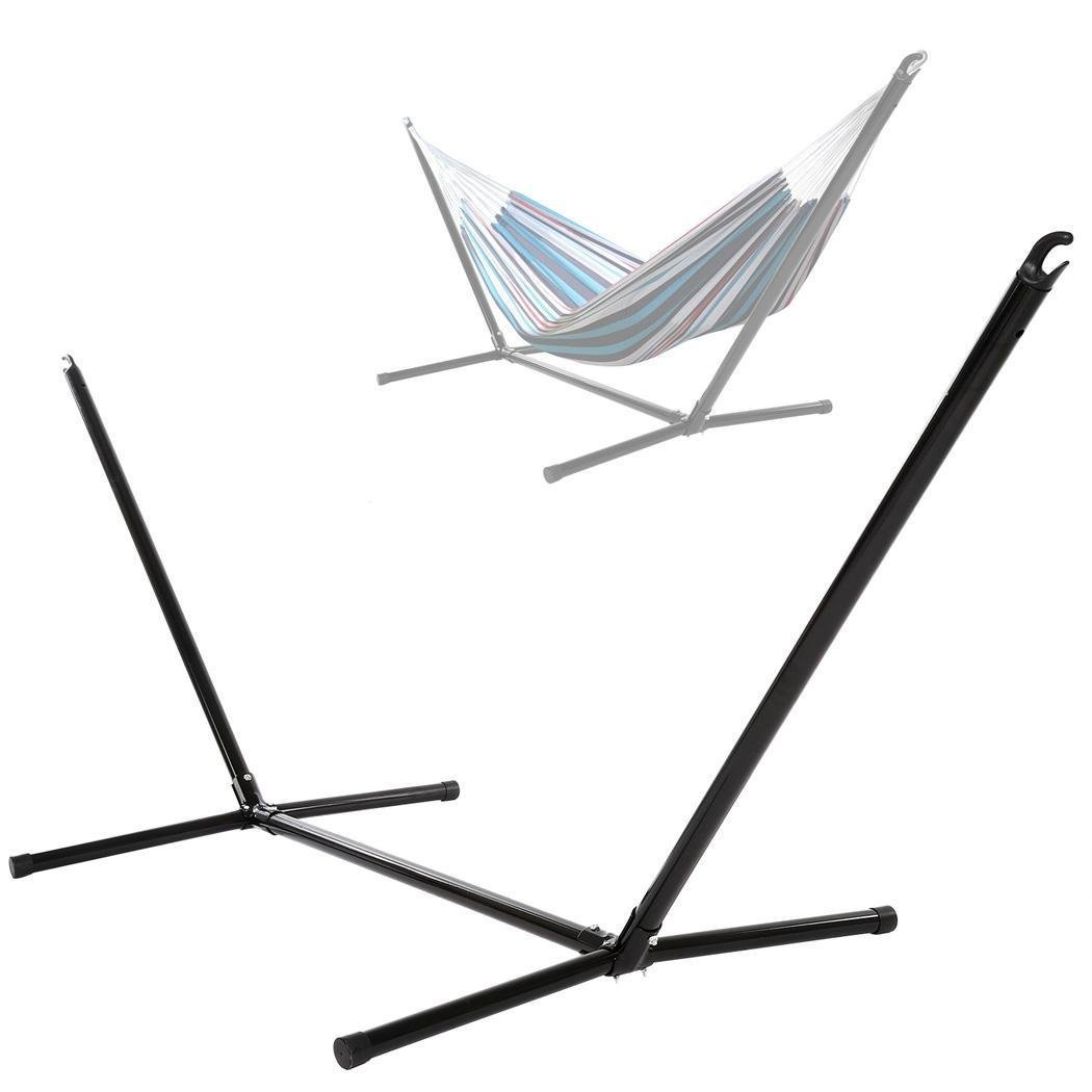 [US Stock]Portable Stainless Steel Hammock Stand/Space Savings Outdoor Patio Hammock Stand for Spreader Bar Hammock,440lbs Capacity