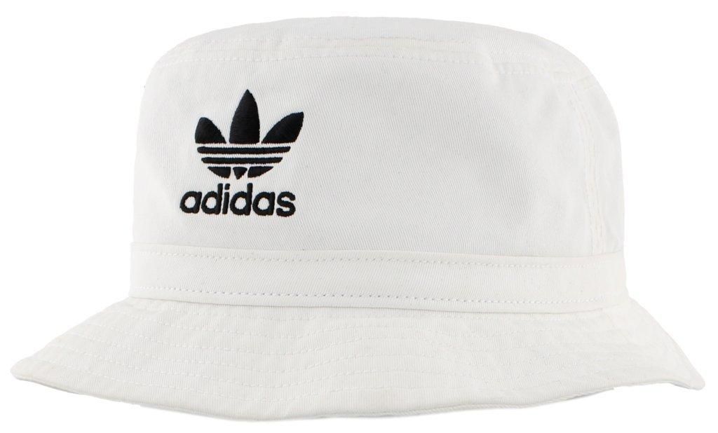 adidas Originals Washed Bucket Hat, White/Black, One Size
