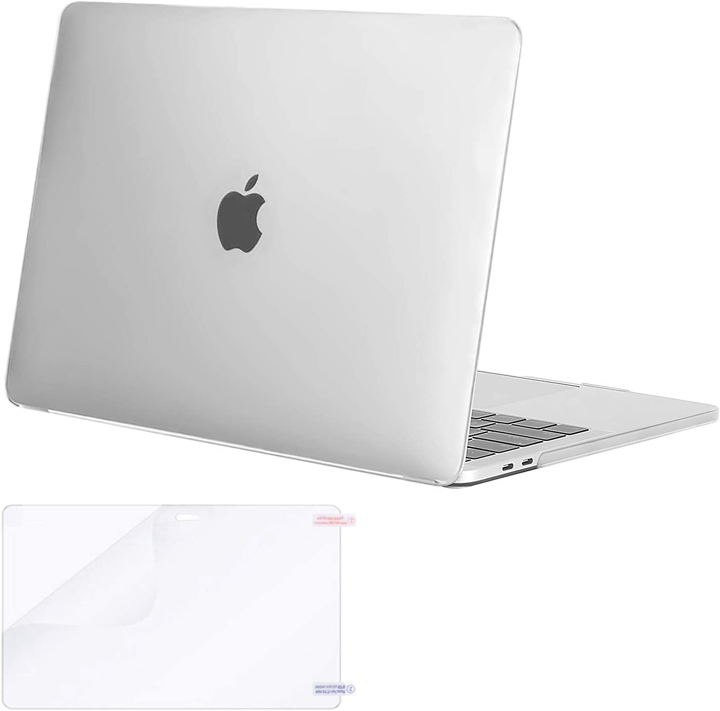 MOSISO MacBook Pro 13 inch Case 2020 2019 2018 2017 2016 Release A2289 A2251 A2159 A1989 A1706 A1708, Plastic Hard Shell Case Cover&Screen Protector Compatible with MacBook Pro 13 inch, Frost