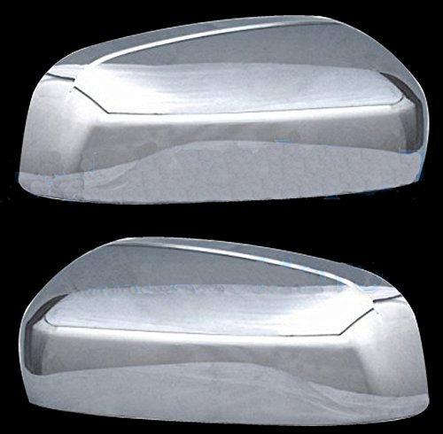 MaxMate 07-13 GMC Yukon/Yukon XL/Denali/Denali XL/Sierra (Not for Classic)/Chevy Avalanche/Silverado (Not for Classic)/Suburban/Tahoe/Cadillac Escalade Chrome Mirror Covers for upper portion Side Door Mirror Cover