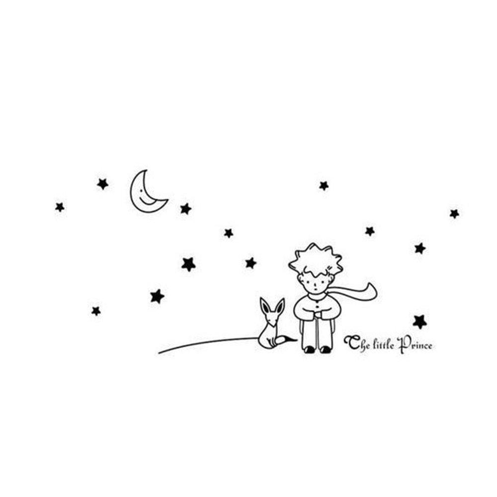 Carino Il Piccolo Principe Moon Stars Wall Sticker Decalcomanie Per Bambini Ragazzi Nursery Decor Snatchcz