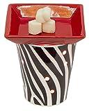 zebra electric candle warmer - EVELINA Zebra Bold Table Top Scent Melt Warmer