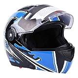 Acouto Double Lens Anti-fog Motorcycle Bike Safety Helmet, Adult Full Face Adjustable Motorcycle Helmet(XXL)