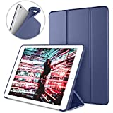 DTTO iPad Case for iPad Mini 4, [Anti-Scratch] Ultra Slim Lightweight [Auto Sleep/Wake] Smart Case Trifold Cover Stand with Flexible Soft TPU Back Cover for iPad mini4, Navy Blue