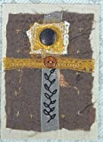 Abstract Cross Handstitched Artsy Gift Mixed Media Textile Collage -Cross