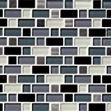 M S International Crystal Cove 12 In. X 12 In. Glass Blend Mesh-Mounted Mosaic Tile, (10 sq. ft., 10 pieces per case)