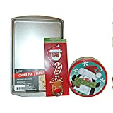 Christmas Cookie Baking Combo Set: : Cookie Sheet, Cookie Cutters & Cookie Tin