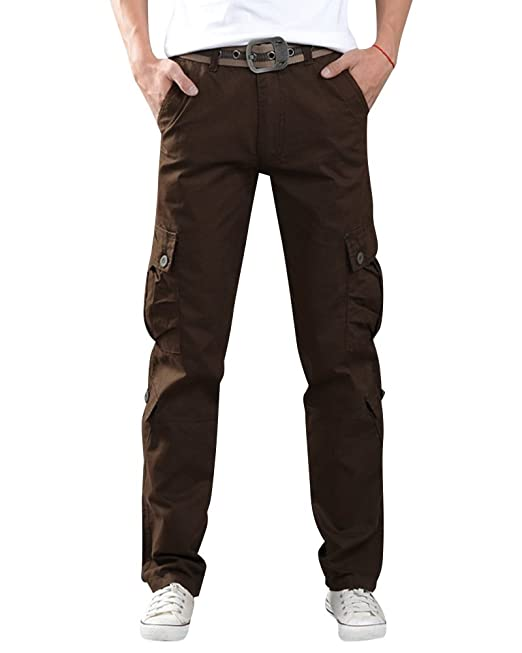 Anyu Pantalones Largos Cargo Múltiples Bolsillos Pantalón Militar para Hombre: Amazon.es: Ropa y accesorios