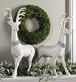 Raz Reindeer Best Deals - 29 Inch High Glitter Christmas Deer - Set of 2 - Extra Large Holiday Reindeer Pair