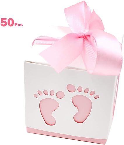 Amazon.com: 50 cajas de caramelos para recién nacidos con ...