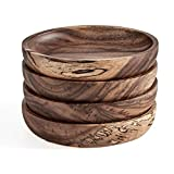 Wooden Coasters for Drinks - Natural Acacia Wood