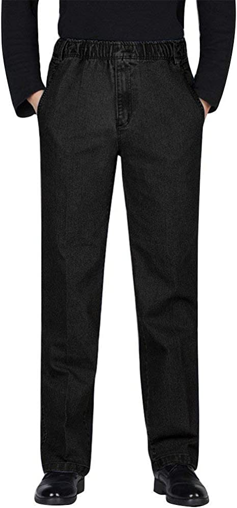 Men Casual Pants Solid Color Button Slim Fit Leisure Chinos Stylish Business Straight Pants,Light Grey,34