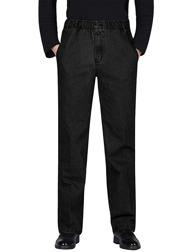11abcb8b7d06a0 Amazon.com: IDEALSANXUN Men's Elastic Waist Denim/Twill Casual Pants ...