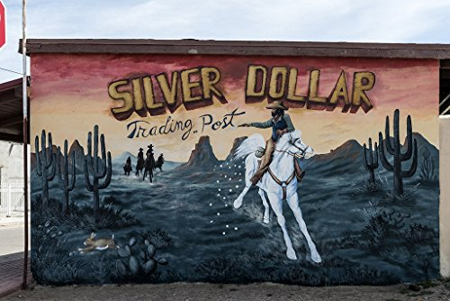 Photograph | Mural for Silver Dollar Trading Post, San Elizario, Texas]| Fine Art Photo Reporduction 66in x 44in ()