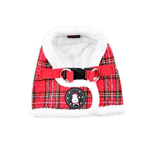 Puppia Blitzen Harness B, Medium, Checkered Red ()
