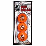 Franklin Sports Street Hockey Balls - NHL - High Density - 3 Pack - Orange