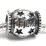 """ Friend Barrel "" Charm for Pandora Chamilia Kay's Troll European Story Charm Bracelets image"