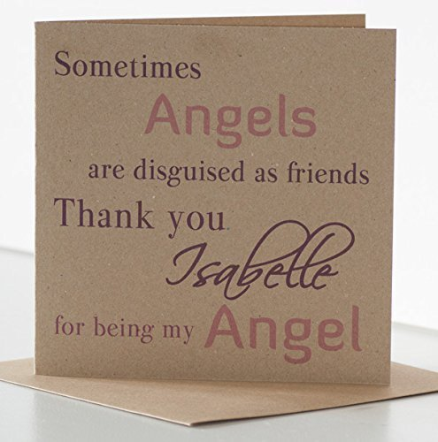 Angel Birthday Card For Friend Personalised Birthday Card For