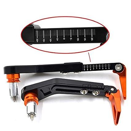 Protection de levier de frein et dembrayage r/églable en aluminium CNC Poign/ée Grip BJ Global