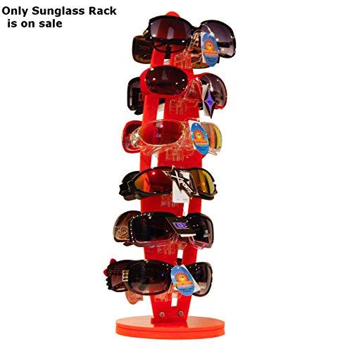 New Orange Acrylic Counter Top Rotating Sunglass Display Rack 18.5'' h X 6'' w by Display Rack