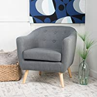 Christopher Knight Home 299771 Lorelai Arm Chair, Charcoal