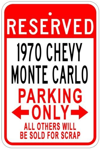 Chevy Monte Carlo Aluminum Parking Sign - 12 X 18 Inches ()
